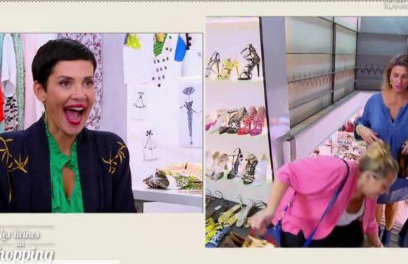 VIDEO Les reines du shopping: une candidate manque de tomber, Cristina Cordula se moque