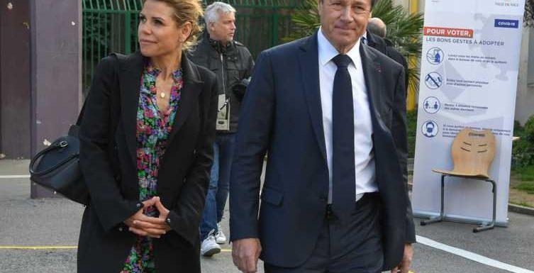 PHOTOS Laura Tenoudji s'affiche une dernière fois avec son mari, Christian Estrosi