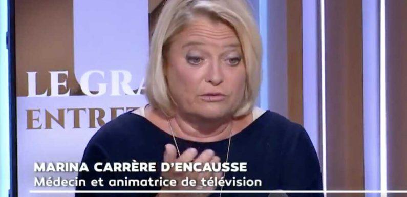 """""""Ce n'est pas vrai !"""" : Marina Carrère d'Encausse en désaccord avec les récents propos de Didier Raoult (VIDEO)"""