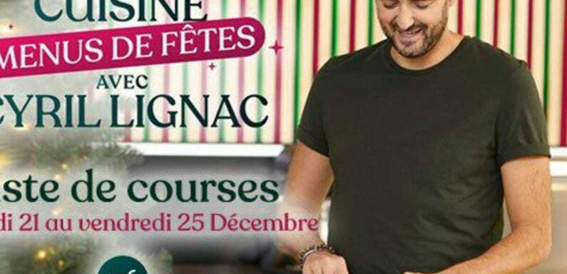 """""""Tous en cuisine"""" : la recette et la liste des ingrédients du jeudi 24 décembre de Cyril Lignac"""
