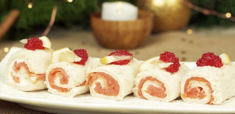 Réalisez des mini bûches faciles au saumon pour le Nouvel An