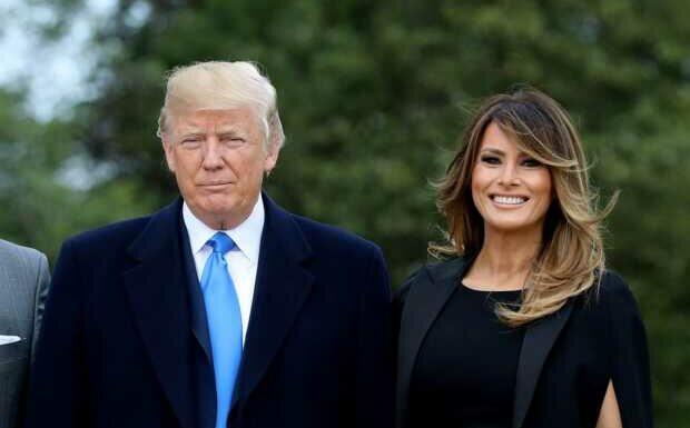 PHOTOS – «Vous avez oublié votre fils»: Donald et Melania Trump raillés une dernière fois lors de leur départ