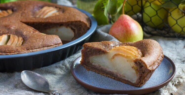 Le gâteau poire-chocolat de Cyril Lignac