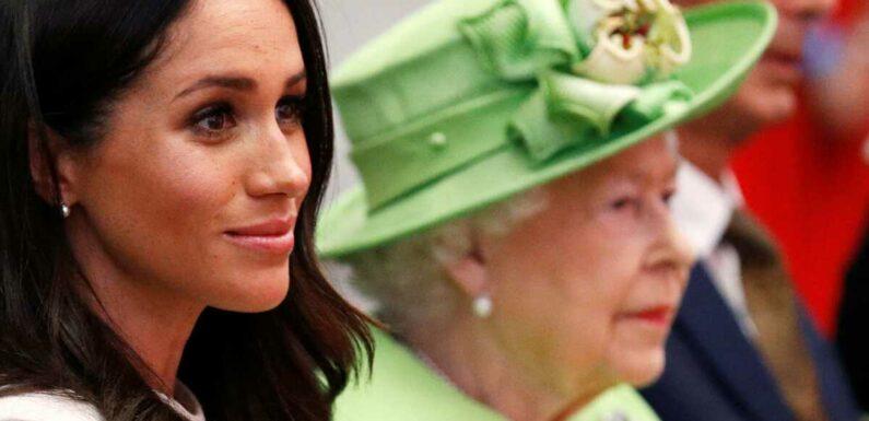 Meghan Markle : ces images d'un faux-pas avec la reine interdites par Buckingham