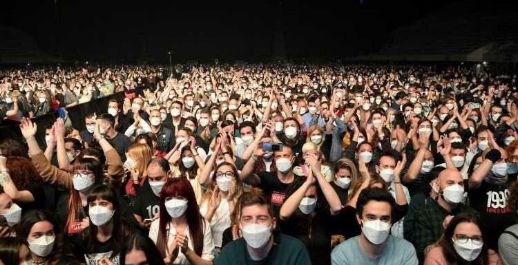 """Un concert-test concluant à Barcelone, """"aucun signe"""" de contamination selon les organisateurs"""