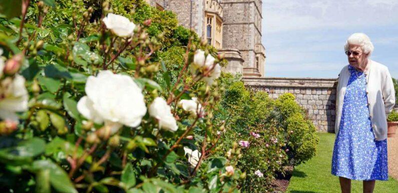 Elizabeth II de sortie dans ses jardins pour un bel hommage au prince Philip