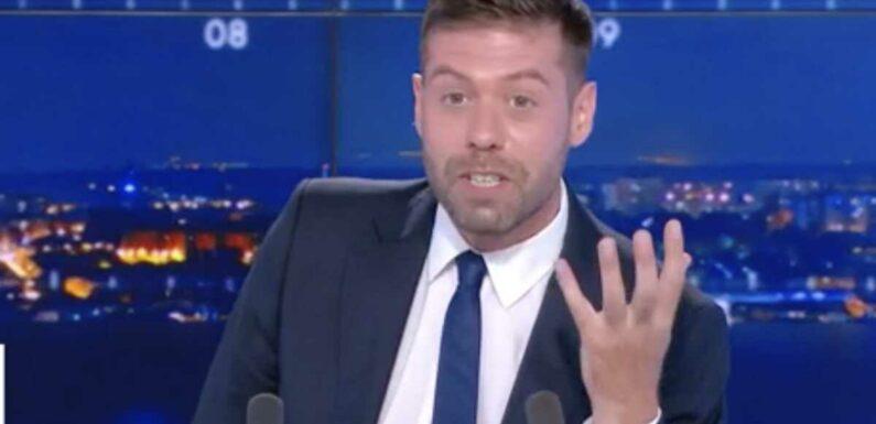 """Un présentateur de CNews déstabilisé par un étonnant bug technique en direct : """"Alors ça, c'est du jamais vu !"""" (VIDEO)"""