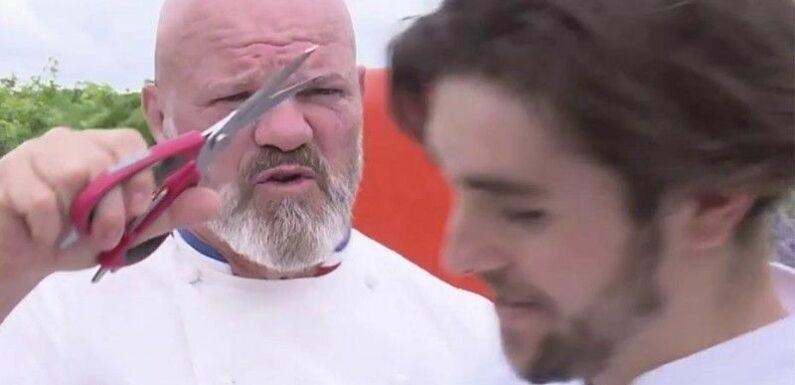 Zapping : Philippe Etchebest agacé par l'hygiène d'un candidat menace de lui couper les cheveux