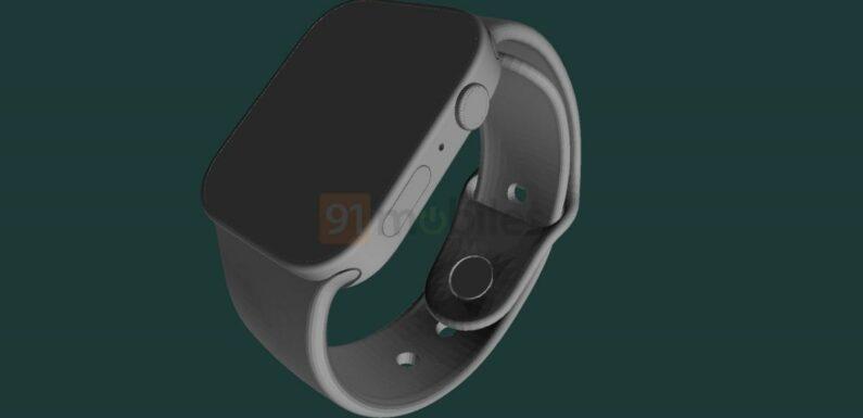 Apple Watch Series 7 : Les premiers rendus 3D de la montre apparaissent