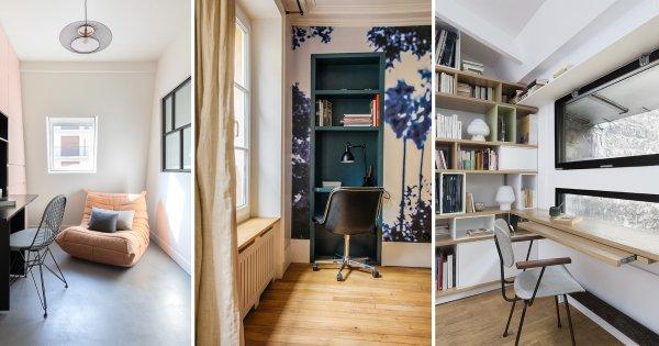Avant-après: 10 bureaux pratiques et déco pour bien travailler de chez soi