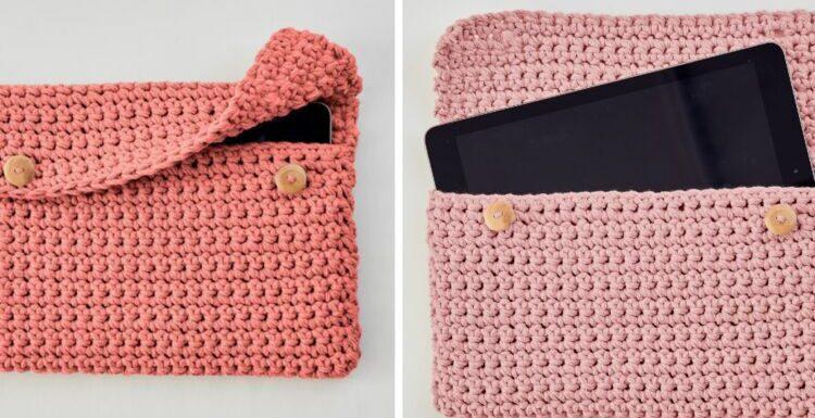 DIY crochet débutantes : une pochette pour tablette