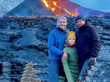 """TEMOIGNAGE. Sólný : """"C'est étrange d'avoir un volcan dans son jardin"""""""