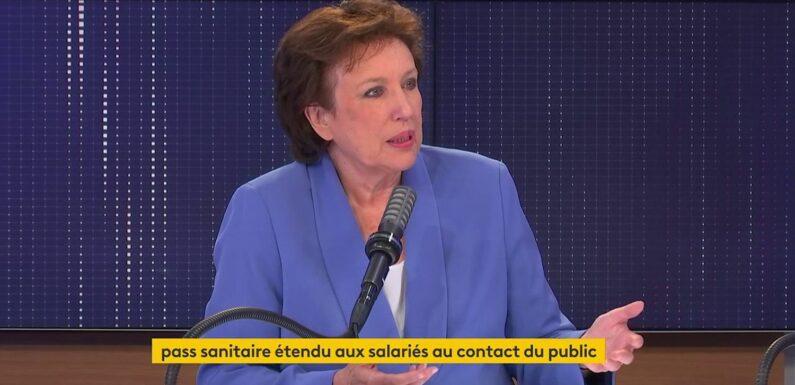 """VIDÉO. Covid-19 : le pass sanitaire pour les salariés est """"strictement une mesure de santé publique"""", défend la ministre de la Culture"""