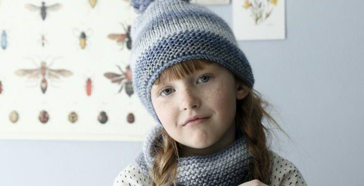 Comment faire un bonnet enfant et son snood en jersey et point mousse ?