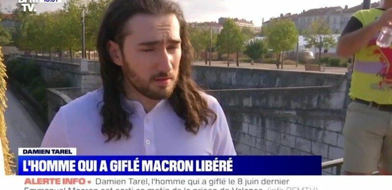 Emmanuel Macron giflé : déjà sorti de prison, son agresseur prend la parole et le nargue