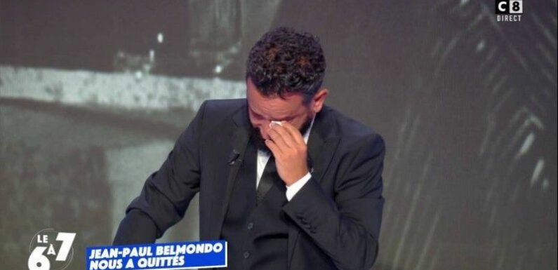 Mort de Jean-Paul Belmondo : Cyril Hanouna craque et fond en larmes en direct dans TPMP