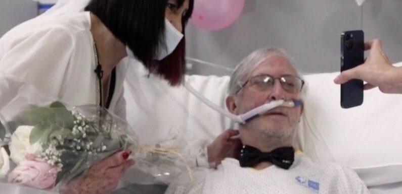 Zapping : Un couple atteint du Covid-19 se marie à l'hôpital