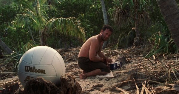 """Seul au monde"": la scène culte où Chuck perd son ami imaginaire Wilson"