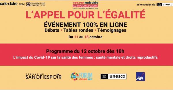 La Semaine de l'Égalité: L'impact du Covid-19 sur la santé des femmes: santé mentale et droits reproductifs