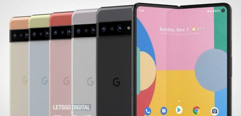 Le smartphone pliable Google Pixel Fold présenté avec le Pixel 6 ?