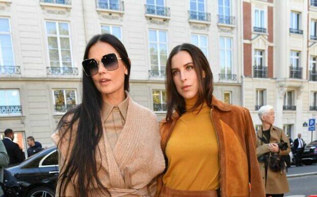 PHOTOS – Demi Moore et sa fille Tallulah rayonnantes pour la Fashion Week de Paris